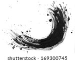 ink textutre background on paper | Shutterstock . vector #169300745