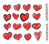 set of vector drawings of... | Shutterstock .eps vector #1693009474