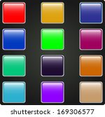 set of colored web buttons    Shutterstock .eps vector #169306577