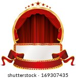vector red round stage with... | Shutterstock .eps vector #169307435