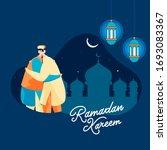 islamic holy month of ramadan... | Shutterstock .eps vector #1693083367