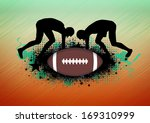 american football sport poster... | Shutterstock . vector #169310999