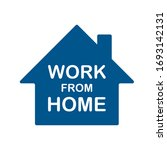work from home text with house...   Shutterstock .eps vector #1693142131