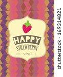 strawberry poster template... | Shutterstock .eps vector #169314821
