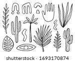 hand drawn set with different... | Shutterstock .eps vector #1693170874
