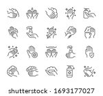 wash hand line icons set vector ... | Shutterstock .eps vector #1693177027