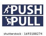 push and pull   door sign ... | Shutterstock .eps vector #1693188274