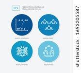 4 kinds of predictive modeling... | Shutterstock .eps vector #1693205587
