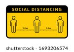 social distancing. keep the 1 2 ... | Shutterstock .eps vector #1693206574