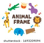 pretty colorful animals and...   Shutterstock .eps vector #1693209094