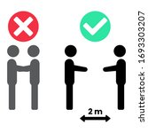 social distancing icon. keep... | Shutterstock .eps vector #1693303207