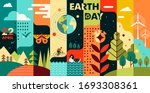 world earth day. flat style...   Shutterstock .eps vector #1693308361