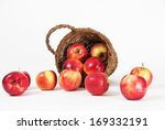 apples spilled from the bucket... | Shutterstock . vector #169332191