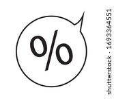 percentage icon vector...