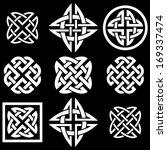 celtic quaternary knots set....   Shutterstock .eps vector #169337474