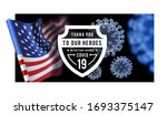 thanks for the heroes helping... | Shutterstock .eps vector #1693375147