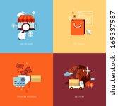 set of flat design concept... | Shutterstock .eps vector #169337987