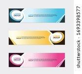 modern style of web banner...   Shutterstock .eps vector #1693398577