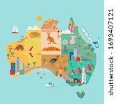 Map Of Australia. Colorful...