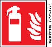 fire extinguisher sign. white... | Shutterstock .eps vector #1693426387