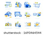 flat design icons collection.... | Shutterstock .eps vector #1693464544