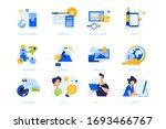flat design concept icons... | Shutterstock .eps vector #1693466767