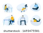 flat design icons collection.... | Shutterstock .eps vector #1693475581