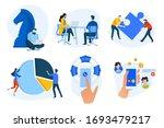 flat design concept icons... | Shutterstock .eps vector #1693479217