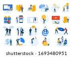 flat design concept icons... | Shutterstock .eps vector #1693480951
