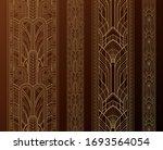gold art deco borders with...   Shutterstock .eps vector #1693564054