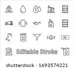set of oil related vector line... | Shutterstock .eps vector #1693574221