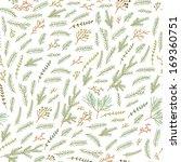 fir brunch pattern on white...   Shutterstock .eps vector #169360751