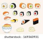 japanese food | Shutterstock .eps vector #169360931