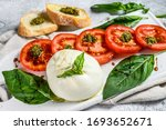 Mozzarella Burrata Salad With...