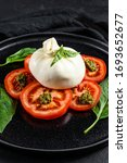 Buffalo Burrata Cheese Served...