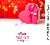 gift heart shape box for... | Shutterstock . vector #169367621