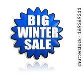 big winter sale in 3d blue star ... | Shutterstock . vector #169369211