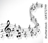 music notes on a solide white... | Shutterstock .eps vector #169372799