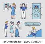various manuals for preventing...   Shutterstock .eps vector #1693764604