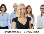 successful business team of... | Shutterstock . vector #169378055