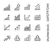 premium set of growth line... | Shutterstock .eps vector #1693797244