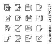 set of contract related vector...   Shutterstock .eps vector #1693797277