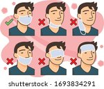 correct way to wear the mask... | Shutterstock .eps vector #1693834291