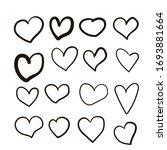 set of vector drawings of... | Shutterstock .eps vector #1693881664