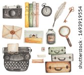 Watercolour Vintage Elements...