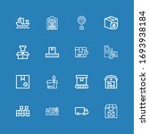 editable 16 distribution icons... | Shutterstock .eps vector #1693938184