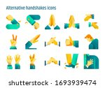 alternative handshake concept... | Shutterstock .eps vector #1693939474