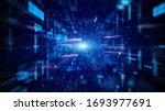 Blue Digital Cyberspace And...