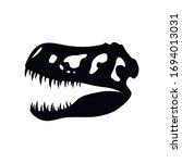 Dinosaur Skull Icon Isolated On ...