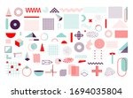 set of colorful geometric... | Shutterstock .eps vector #1694035804